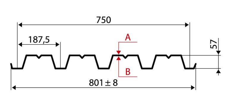 Профнастил H57