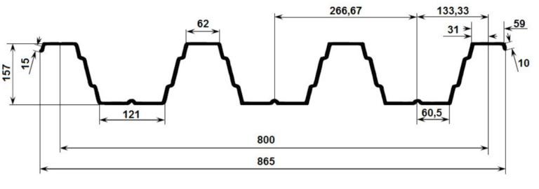Профнастил Н157