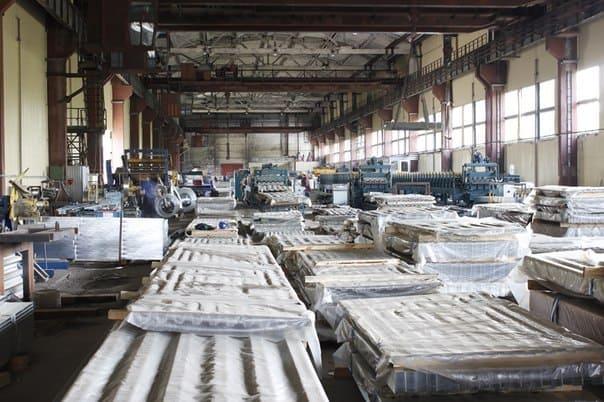 Готовая продукция на складе компании Стальнофф